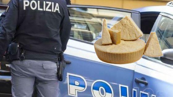 I ladri volevano portare via del parmigiano (© Questura)