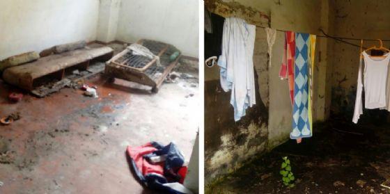 Immigrati irregolari nell'ex caserma Piave di via Catania