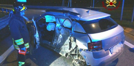 L'incidente che ha coinvolto un pick-up e una Citroen