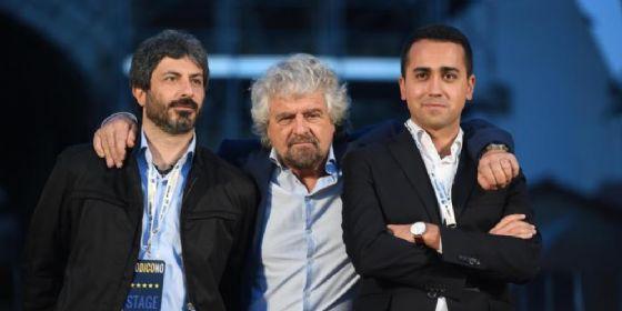 Roberto Fico, Beppe Grillo e Luigi Di Maio