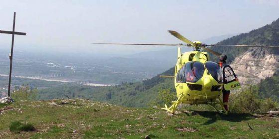 L'elicottero sul Monte San Lorenzo