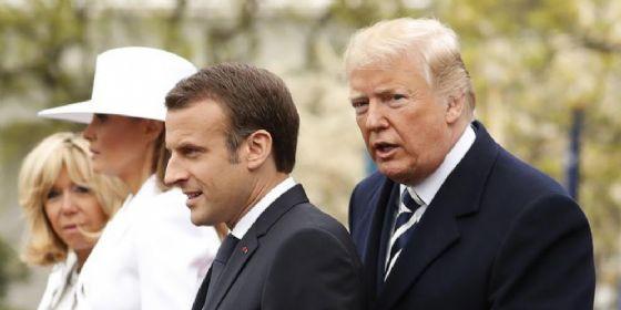 Macron con Brigitte negli Usa, prima visita di Stato concessa da Trump