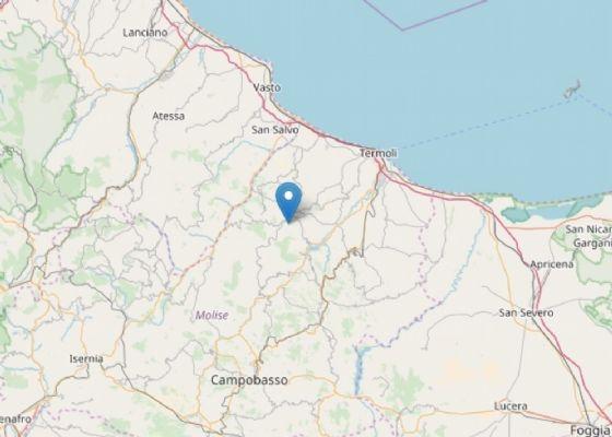 Scossa di terremoto in Molise con epicentro a Acquaviva Collecroce (Campobasso)
