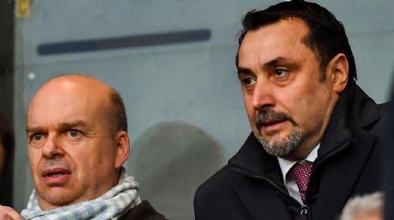 Marco Fassone e Massimiliano Mirabelli, amministratore delegato e direttore sportivo del Milan
