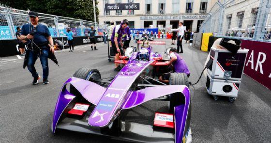 La monoposto di Sam Bird (Ds Virgin) vincitore dell'ePrix di Roma di Formula E