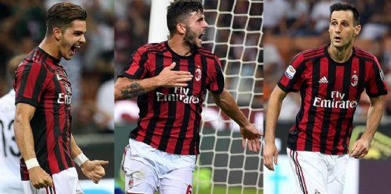 I tre centravanti del Milan: Silva, Cutrone e Kalinic