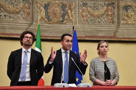 Luigi Di Maio, Danilo Toninelli e Giulia Grillo