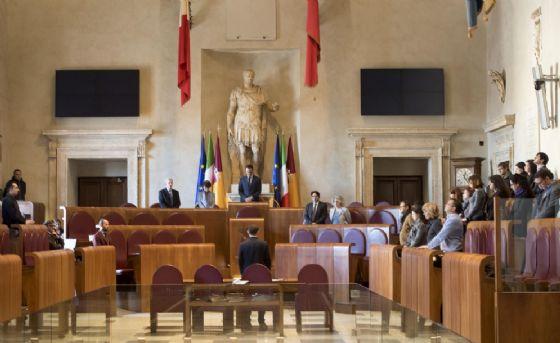 Un'immagine dell'Assemblea Capitolina