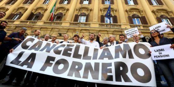 Manifestazione della Lega per l'abolizione della Legge Fornero
