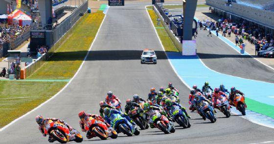 La partenza del Gran Premio di Spagna 2017 di MotoGP