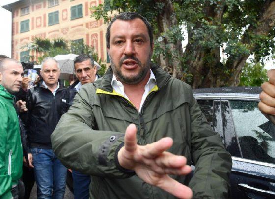 Il segretario della Lega Matteo Salvini a Euroflora