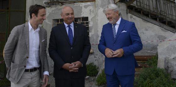 Fedriga Dipiazza e Paoletti all'ex cantiere Sertubi
