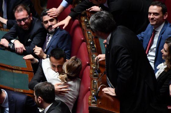 Il Parlamento durante l'elezione di Roberto Fico a presidente della Camera. Roma, 24 marzo 2018