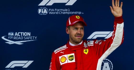 Sebastian Vettel dopo il terzo posto nelle qualifiche del GP di Spagna di F1 a Barcellona