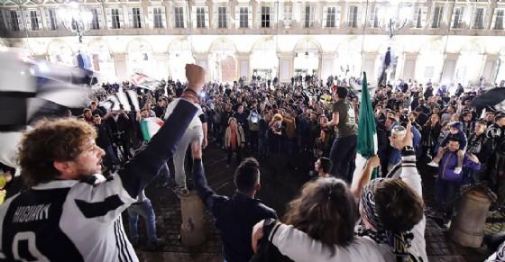 Piazza San Carlo, 13 maggio (© ANSA)