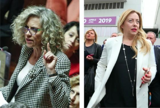 Monica Cirinnà e Giorgia Meloni