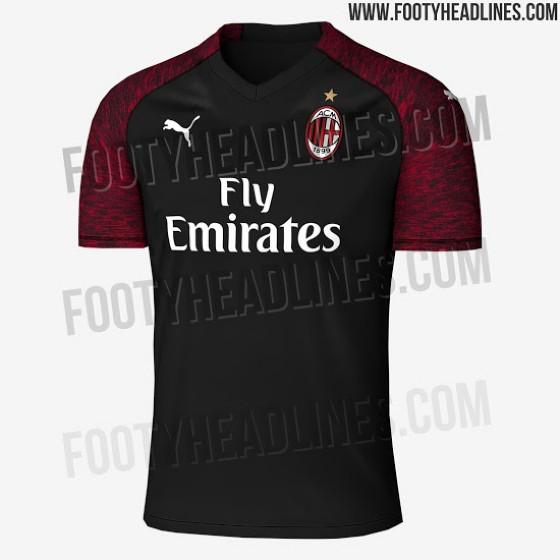 La possibile terza maglia del Milan svelata da footyheadliners.com