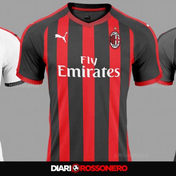 La possibile prima maglia del Milan