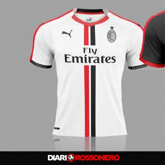 La possibile seconda maglia del Milan