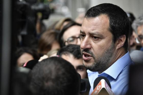 Matteo Salvini a margine dell'incontro con il M5s