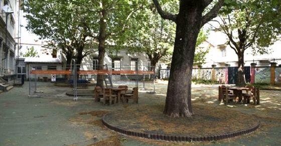 Il cortile della scuola Pestalozzi (© Comune di Torino)