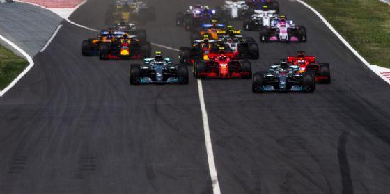 La partenza del Gran Premio di Spagna di Formula 1 a Barcellona