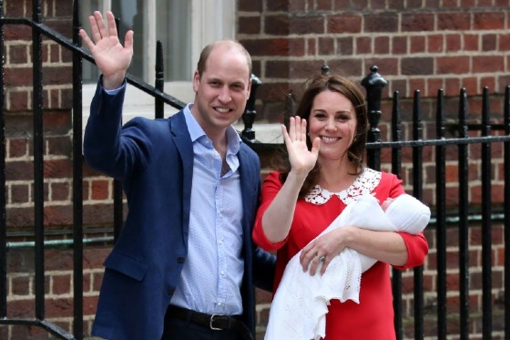 Prince William became a father for the third time after his wife Catherine gave birth on April 23