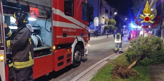 Vajont, fiamme nella notte: carbonizzato un furgoncino (© Vigili del fuoco Pordenone)