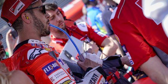 Andrea Dovizioso sulla griglia di partenza in sella alla Ducati