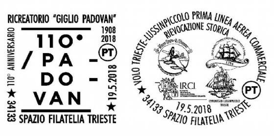 Poste italiane per Trieste: annulli filatelici dedicati al ricreatorio 'Padovan'