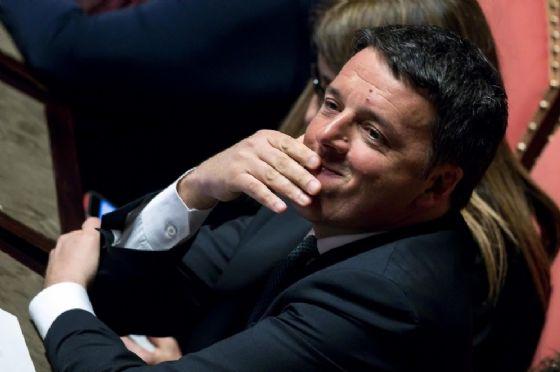 Matteo Renzi in aula al Senato