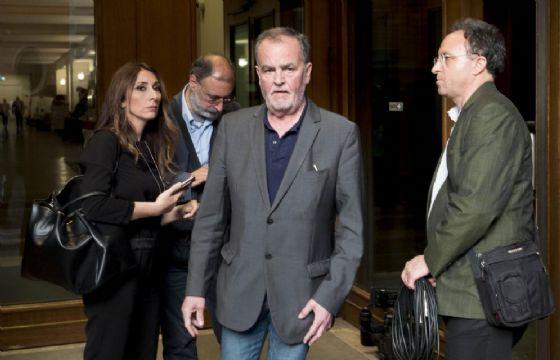 Roberto Calderoli all'uscita della Camera dei Deputati