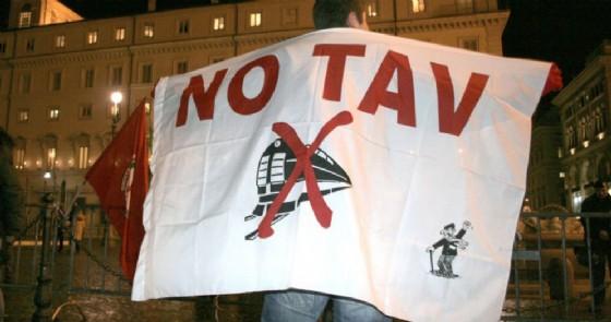 Manifestante No Tav (© ANSA)