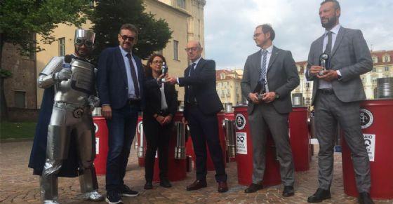La premiazione in piazza Castello (© RICREA)