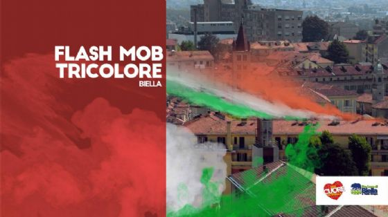 A Biella arriva il «flash mob tricolore»