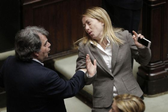 Renato Brunetta e Giorgia Meloni