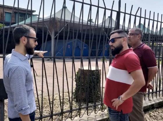 Sopralluogo di CasaPound in via Vigliani: nessun nomade nelle tende della Croce Rossa