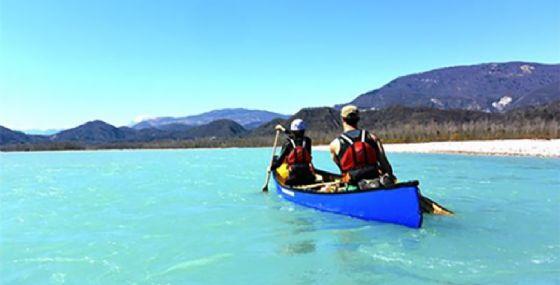 Tour in canoa canadese sul fiume Isonzo (© Diario di Gorizia)