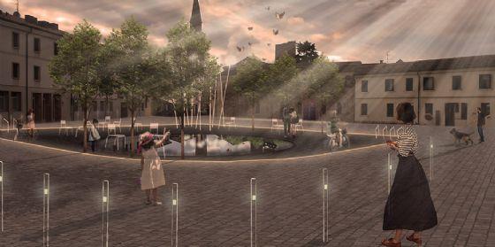 La nuova piazza della Motta a Pordenone (© Comune di Pordenone)