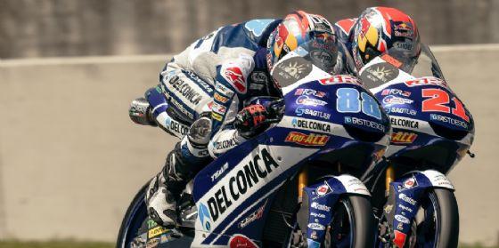 Jorge Martin e Fabio Di Giannantonio in sella alle Honda del team Gresini Moto3