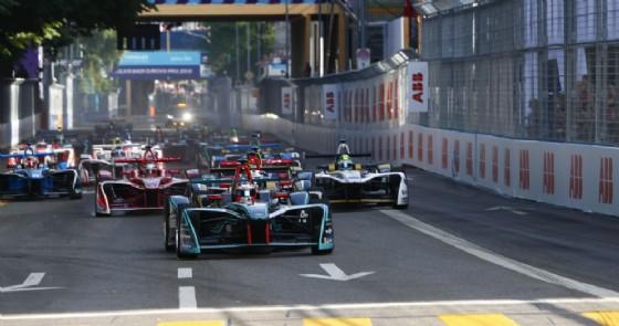 La partenza dell'ePrix di Zurigo di Formula E