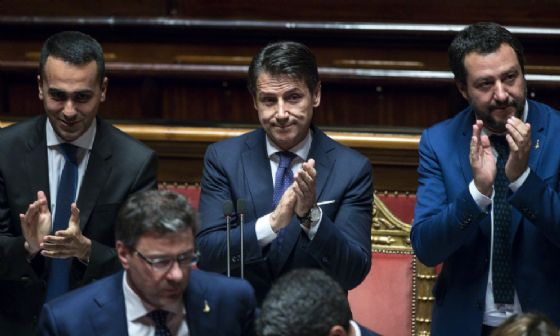 Matteo Salvini, Luigi Di Maio e Giuseppe Conte