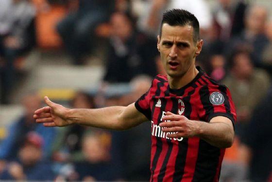 L'attaccante croato del Milan Nikola Kalinic