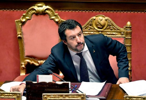 Matteo Salvini riferisce sulla vicenda Aquarius nell'aula di Palazzo Madama