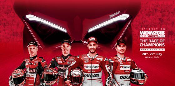 Il manifesto della gara dei campioni al World Ducati Week 2018