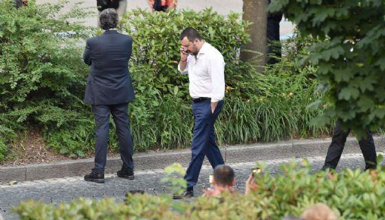 Matteo Salvini durante il 'tour' in Piemonte