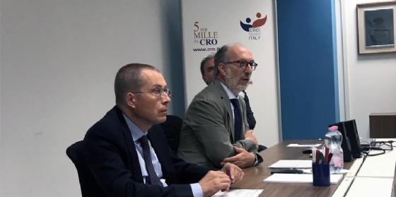 Riccardo Riccardi (Assessore regionale Salute) in visita al Centro di Riferimento Oncologico (Cro)