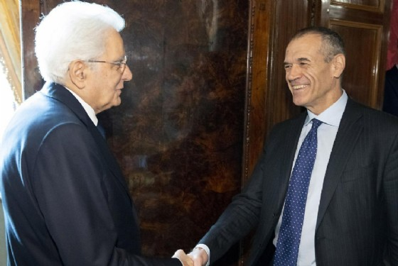 Carlo Cottarelli con il Presidente della Repubblica Sergio Mattarella