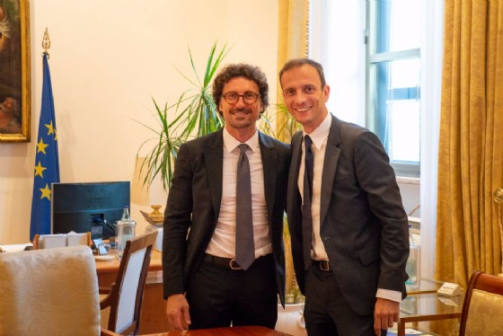 Ministro Danilo Toninelli e governatore del Friuli Massimiliano Fedriga