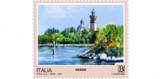 Grado nei quattro francobolli d'Italia della serie «Turismo»